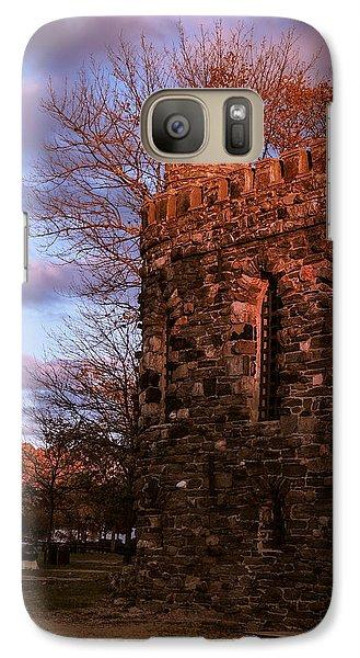 Galaxy Case featuring the photograph Sundown At Rhineland Castle by Glenn Feron