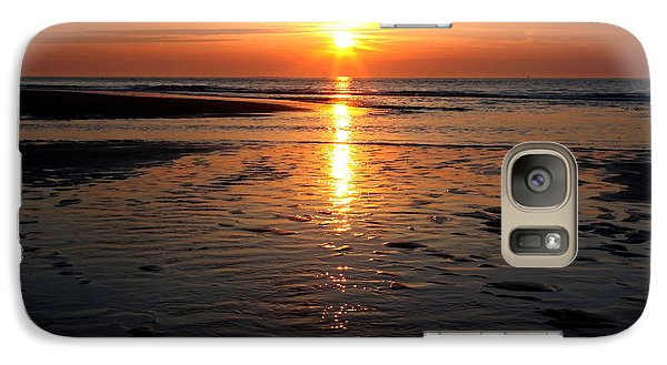 Galaxy Case featuring the photograph Sundown At The North Sea by Annie Snel