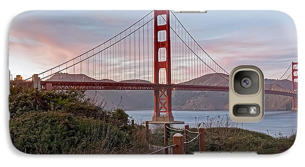 Galaxy Case featuring the photograph Sundown Bridge by Kate Brown
