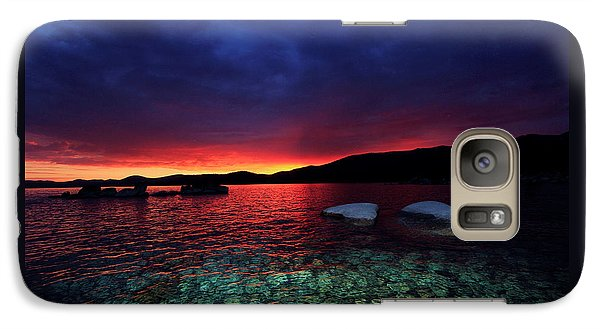 Galaxy Case featuring the photograph Sundown In Lake Tahoe by Sean Sarsfield