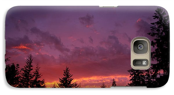 Galaxy Case featuring the photograph Sundown In Lilac And Orange by Adria Trail