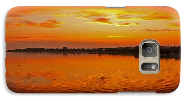 Galaxy Case featuring the photograph Sundown Near Jastarnia At Hel Penisula In Poland by Julis Simo