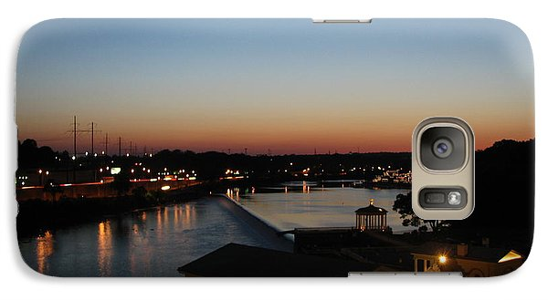 Galaxy Case featuring the photograph Sundown On The Schuylkill by Christopher Woods
