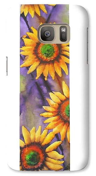 Galaxy Case featuring the painting Sunflower Abstract  by Chrisann Ellis