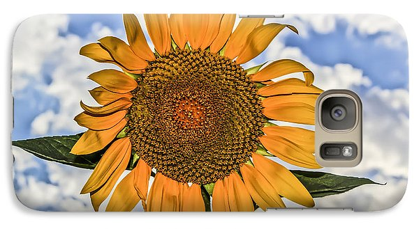 Galaxy Case featuring the digital art 00008 Sunflower And Clouds by Photographic Art by Russel Ray Photos