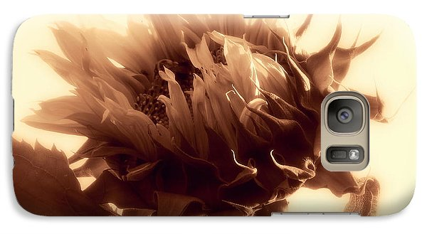 Galaxy Case featuring the photograph Sunflower - Au Revoir by Janine Riley