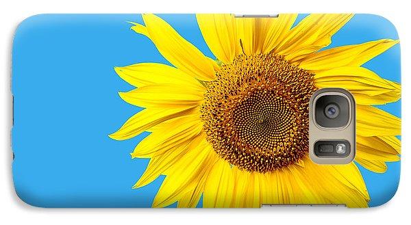 Sunflower Blue Sky Galaxy Case by Edward Fielding