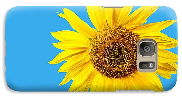 Sunflower Galaxy S7 Case - Sunflower Blue Sky by Edward Fielding