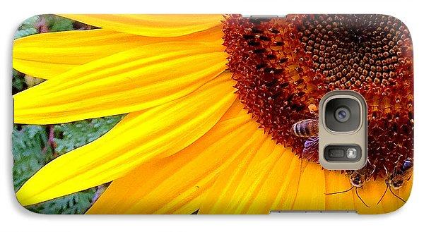 Galaxy Case featuring the photograph Sunflower Close-up by Aurelio Zucco