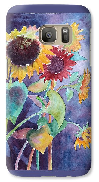 Galaxy Case featuring the painting Sunflower Color by Nancy Jolley