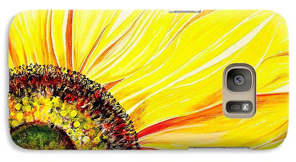 Galaxy Case featuring the painting Sunflower Day by Julie  Hoyle
