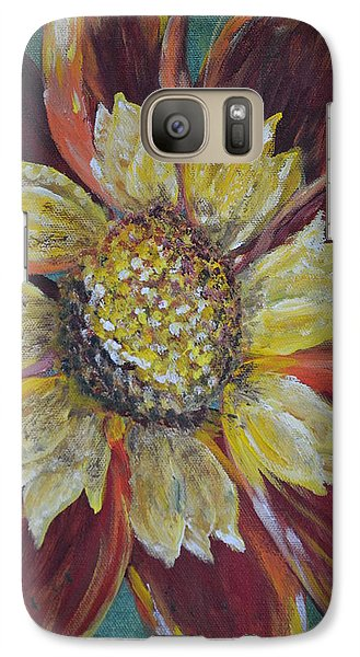 Galaxy Case featuring the painting Sunflower by Debbie Baker