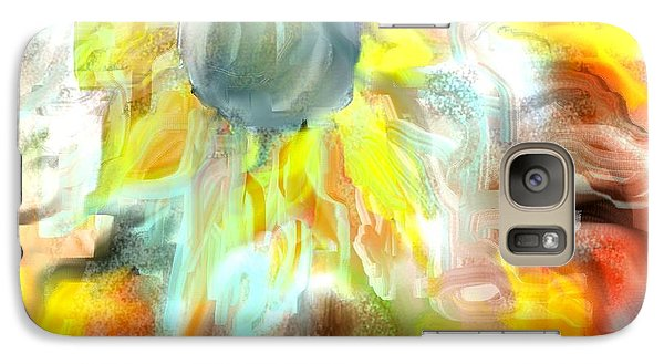 Galaxy Case featuring the painting Sunflower Dreams by Jessica Wright