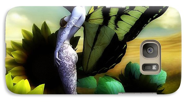 Galaxy Case featuring the digital art Sunflower Fairy by Sandra Bauser Digital Art