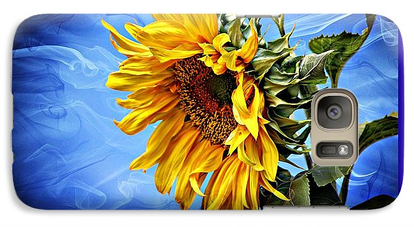 Galaxy Case featuring the photograph Sunflower Fantasy by Barbara Chichester