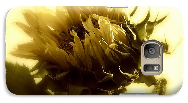 Galaxy Case featuring the photograph Sunflower - Fare Thee Well by Janine Riley