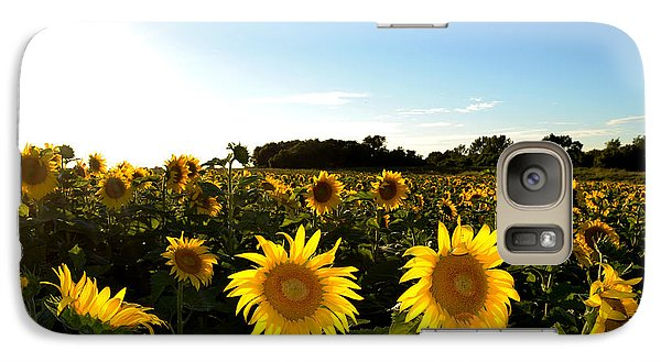 Galaxy Case featuring the photograph Sunflower Field  by Lyle Crump