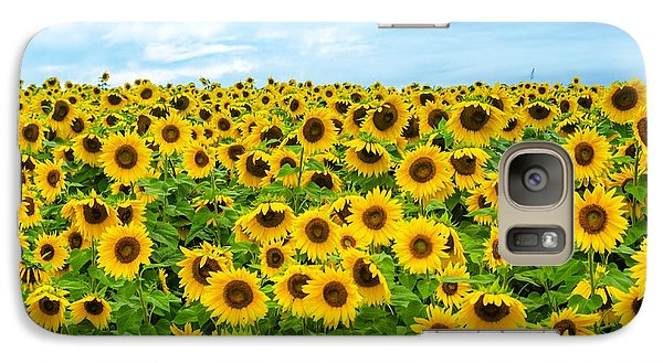 Galaxy Case featuring the photograph Sunflower Field by Mike Ste Marie