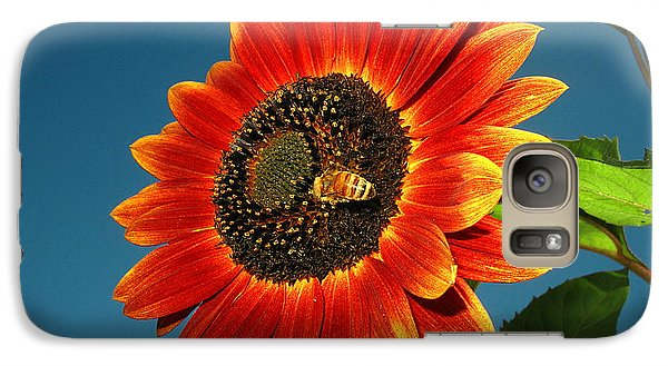 Galaxy Case featuring the photograph Sunflower Honey Bee by Joyce Dickens