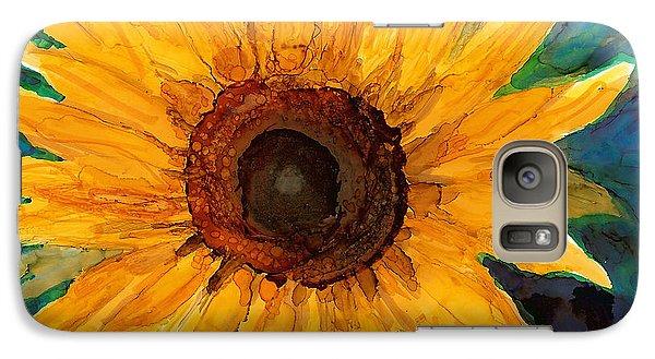 Galaxy Case featuring the painting Sunflower II by Karen Mattson