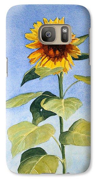 Galaxy Case featuring the painting Sunflower II by Vikki Bouffard