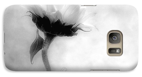 Galaxy Case featuring the photograph Sunflower In Profile by Louise Kumpf