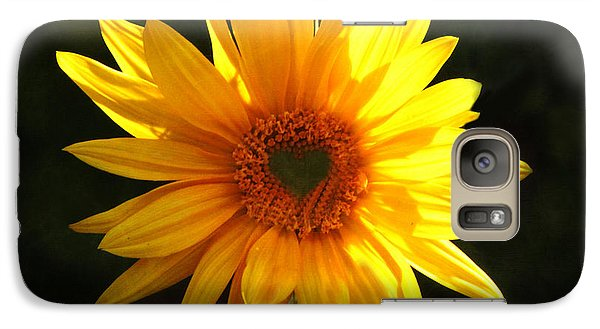 Galaxy Case featuring the photograph Sunflower Love by Marjorie Imbeau