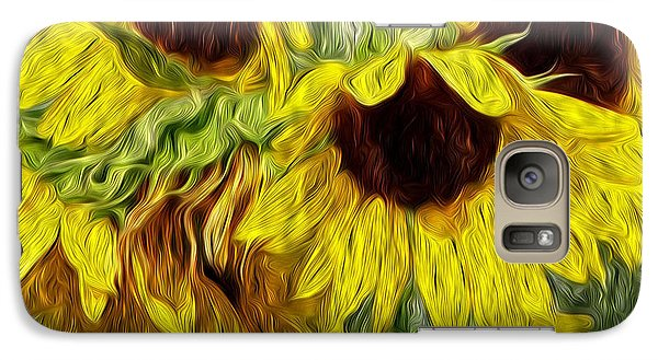 Galaxy Case featuring the photograph Sunflower Morn  by Ecinja Art Works