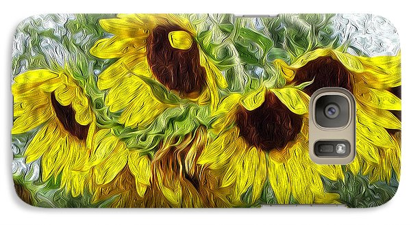 Galaxy Case featuring the photograph Sunflower Morn II by Ecinja Art Works