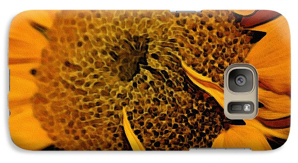 Galaxy Case featuring the photograph Sunflower Painting by Ellen Tully