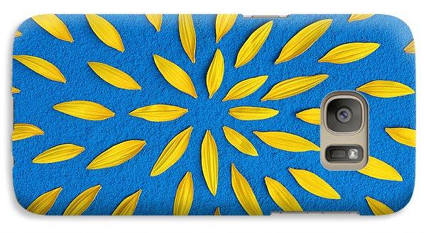 Sunflower Petals Pattern Galaxy Case by Tim Gainey