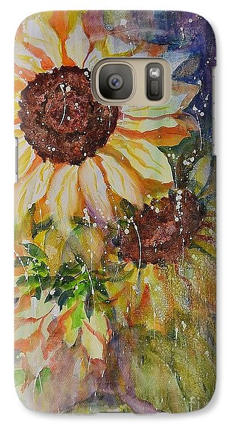 Galaxy Case featuring the painting Sunflower Rain by Kathleen Pio