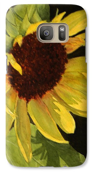 Galaxy Case featuring the painting Sunflower Smile by Vikki Bouffard