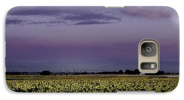 Galaxy Case featuring the photograph Sunflower Sunrise by Kristal Kraft