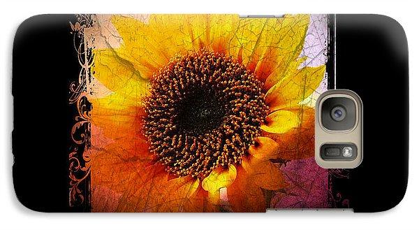 Galaxy Case featuring the digital art Sunflower Sunset - Art Nouveau  by Absinthe Art By Michelle LeAnn Scott