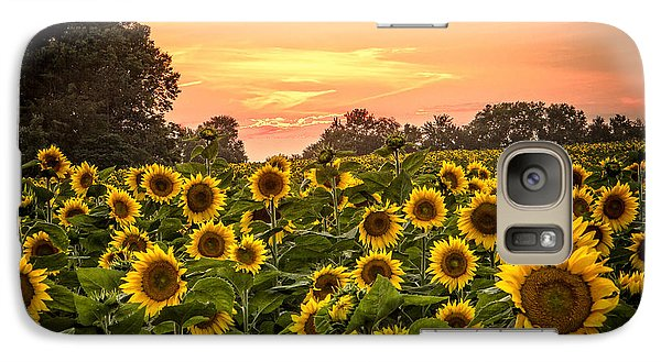 Galaxy Case featuring the photograph Sunflower Sunset by Steven Bateson