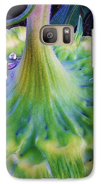 Galaxy Case featuring the photograph Sunflower...moonside 1 by Daniel Thompson