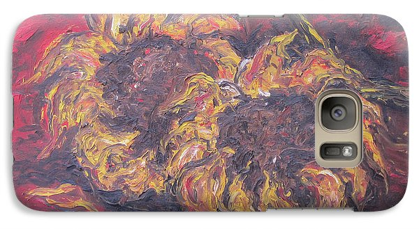 Galaxy Case featuring the painting Sunflowers 2 - Ode To Van Gogh by Cheryl Pettigrew