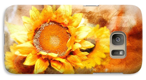 Galaxy Case featuring the photograph Sunflowers Aglow by Mary Timman