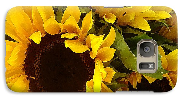 Sunflower Galaxy S7 Case - Sunflowers by Amy Vangsgard
