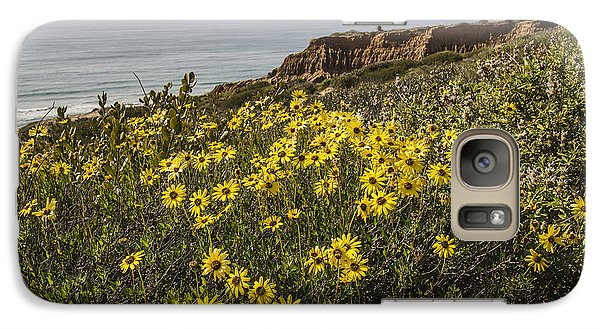 Galaxy Case featuring the photograph Sunflowers At Yucca Point by Lee Kirchhevel