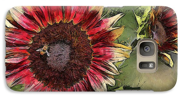 Galaxy Case featuring the photograph Sunflowers by Brian Davis