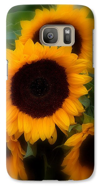 Galaxy Case featuring the photograph Sunflowers by Caroline Stella