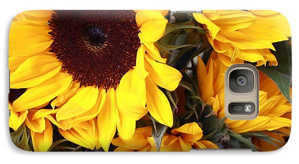 Galaxy Case featuring the photograph Sunflowers by Dora Sofia Caputo Photographic Art and Design