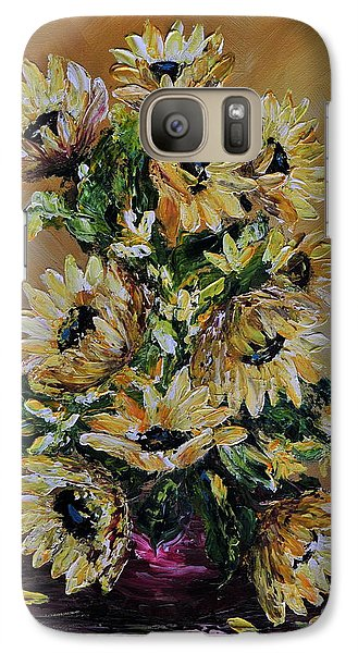 Galaxy Case featuring the painting Sunflowers For You by Teresa Wegrzyn