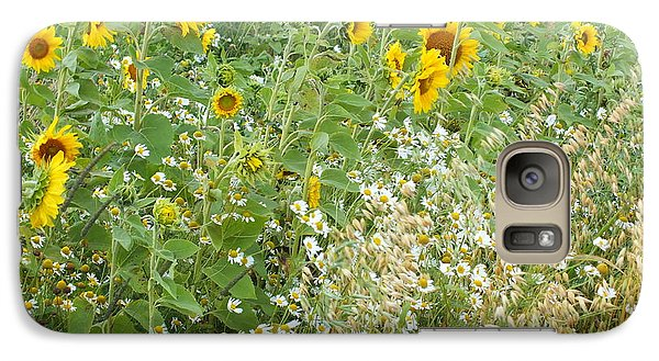 Galaxy Case featuring the photograph Sunflowers by Gene Cyr