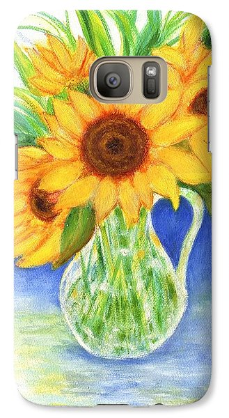 Galaxy Case featuring the painting Sunflowers by Jeanne Kay Juhos