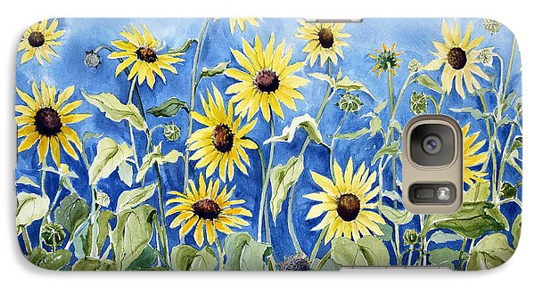 Galaxy Case featuring the painting Sunflowers by Joan Hartenstein