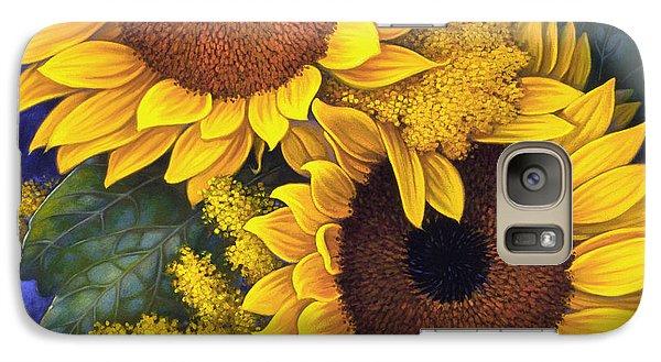 Galaxy Case featuring the painting Sunflowers by Mia Tavonatti