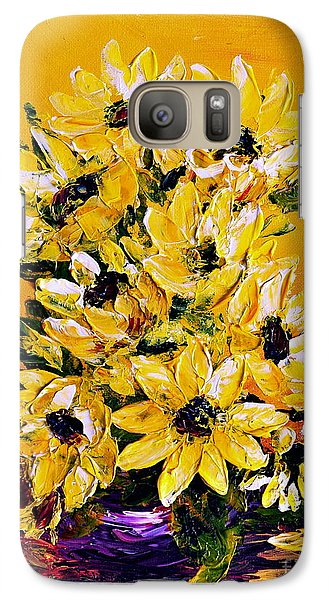 Galaxy Case featuring the painting Sunflowers  No.3 by Teresa Wegrzyn